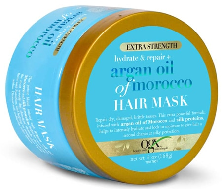 pamper yourself with a hair mask - OGX Extra Strength Argan Oil of Morocco Hair Mask | 40plusstyle.com