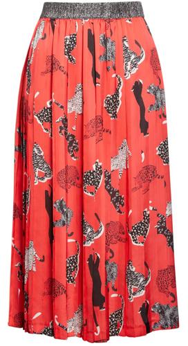 Animal print elastic waist skirt from Helene Berman   40plusstyle.com