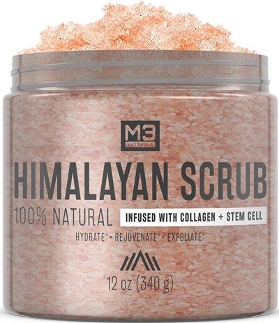 M3 Naturals Himalayan Salt Scrub | 40plusstyle.com