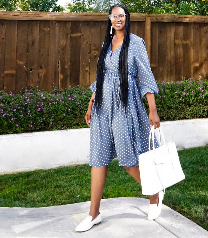 How to wear polka dots in summer | 40plusstyle.com