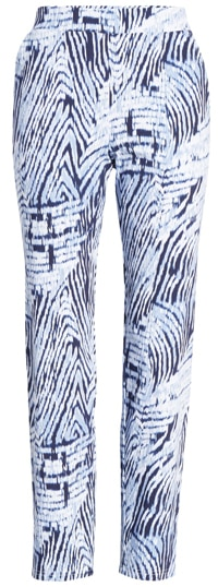 Patterned elastic waist pants by Hue   40plusstyle.com