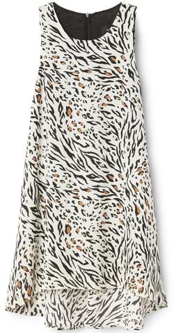 Karen Kane abstract animal print tunic top | 40plusstyle.com