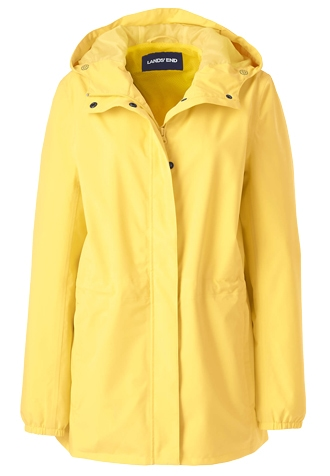Lands' End packable raincoat | 40plusstyle.com