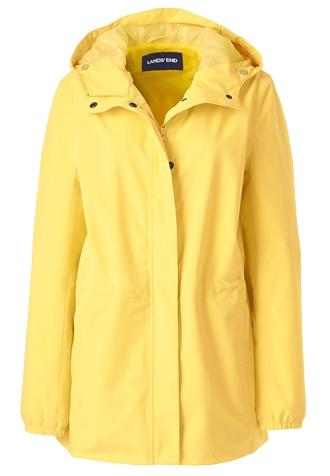 Lands' End packable raincoat | 40plusstyle.com