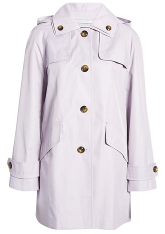 London Fog hooded raincoat | 40plusstyle.com