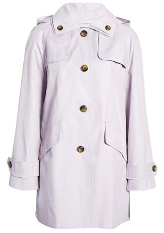 London Fog hooded raincoat | 40plusstyle.com