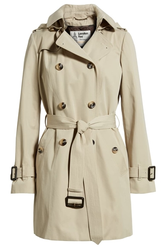 best raincoats for women - London Fog trench coat | 40plusstyle.com