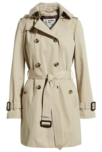 best raincoats for women - London Fog trench coat | 40plusstyle.com