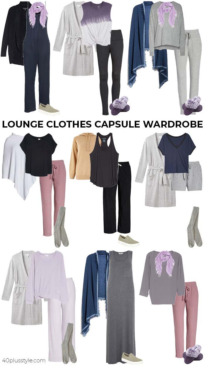 Lounge clothes capsule wardrobe | 40plusstyle.com