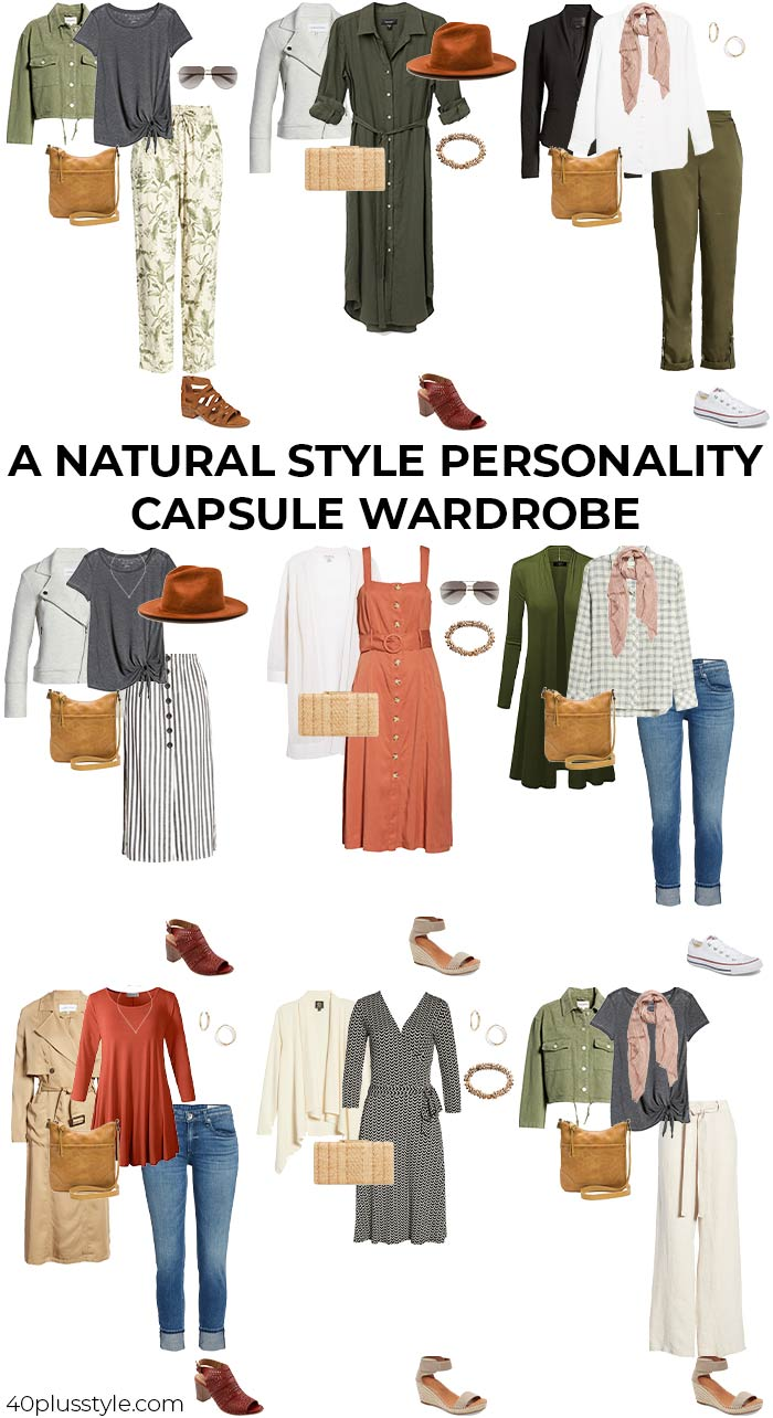 A natural style personality capsule wardrobe | 40plusstyle.com