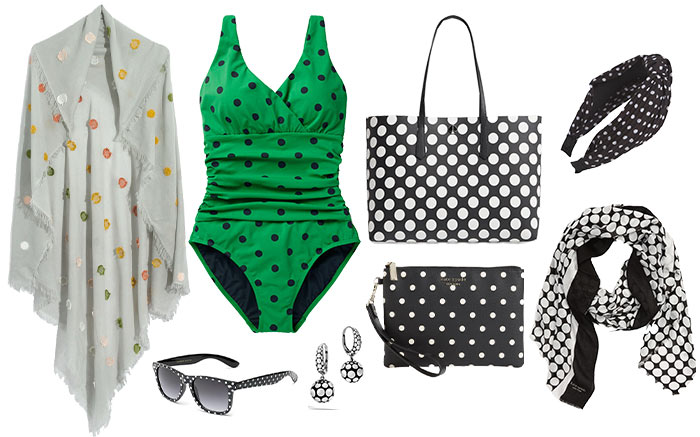 Polka dot accessories | 40plusstyle.com