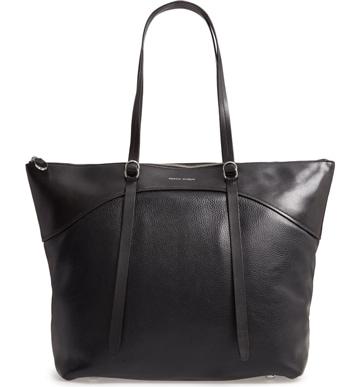 Rebecca Minkoff leather tote | 40plusstyle.com