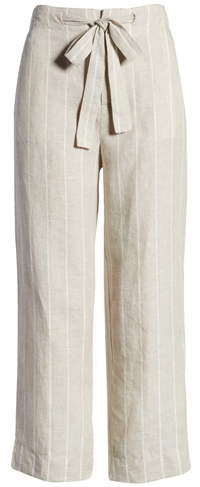 striped elastic waist pants to hide a belly   40plusstyle.com