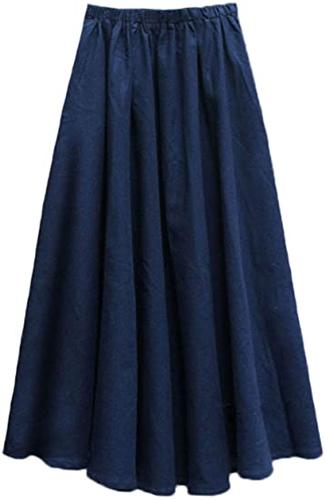 Denim elastic waist skirt from Amazon   40plusstyle.com
