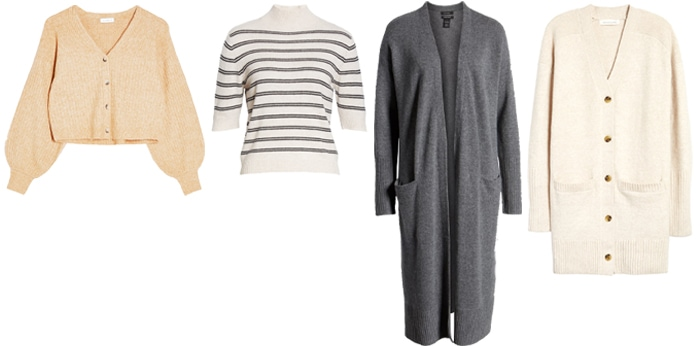 cardigans and sweaters to wear with cropped pants | 40plusstyle.com