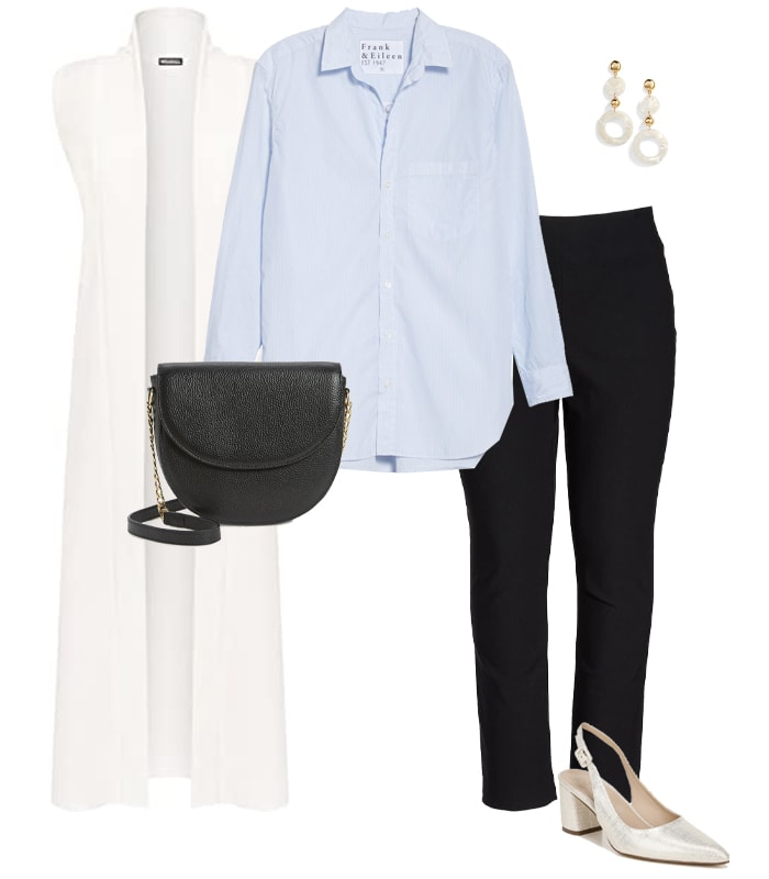 Long cardigan outfit idea   40plusstyle.com