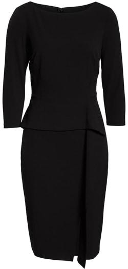 Vince Camuto angled ruffle sheath dress | 40plusstyle.com