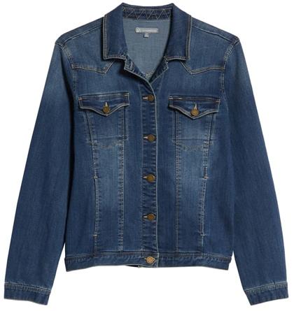 Wit & Wisdom denim jacket | 40plusstyle.com