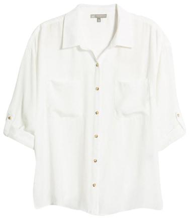 Wardrobe essentials - Wit & Wisdom button-up shirt | 40plusstyle.com