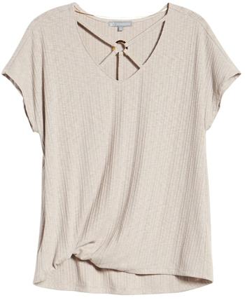 Wit & Wisdom o-ring rib t-shirt | 40plusstyle.com