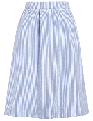 Elastic waist stripe skirt from 1901 | 40plusstyle.com