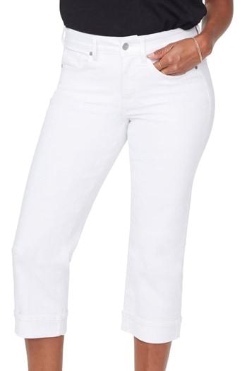 NYDJ straight leg capri jeans | 40plusstyle.com