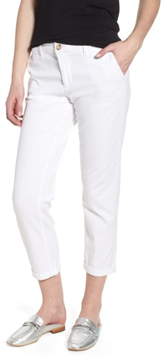 AG crop twill trousers | 40plusstyle.com