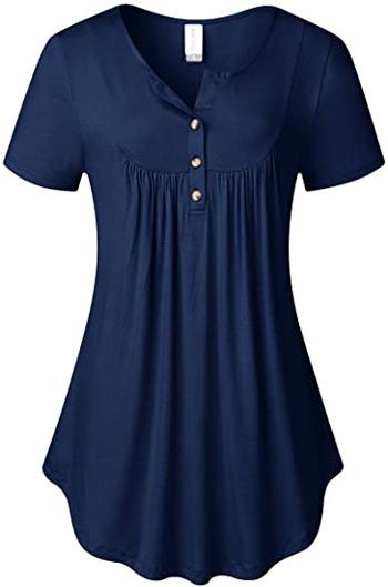 AMCLOS swing tunic shirt | 40plusstyle.com