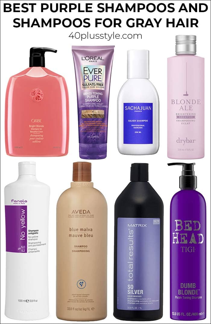 Best purple shampoos and shampoos for gray hair | 40plusstyle.com
