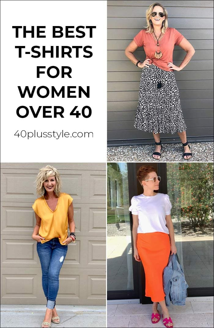 The best t-shirts for women that are more flattering than your regular tee | 40plusstyle.com