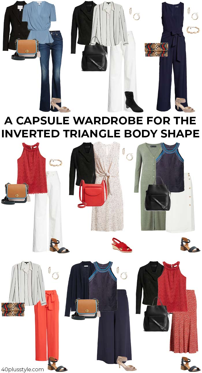 A capsule wardrobe for the inverted triangle body shape   40plusstyle.com