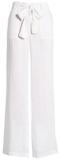 Caslon belted linen pants | 40plusstyle.com