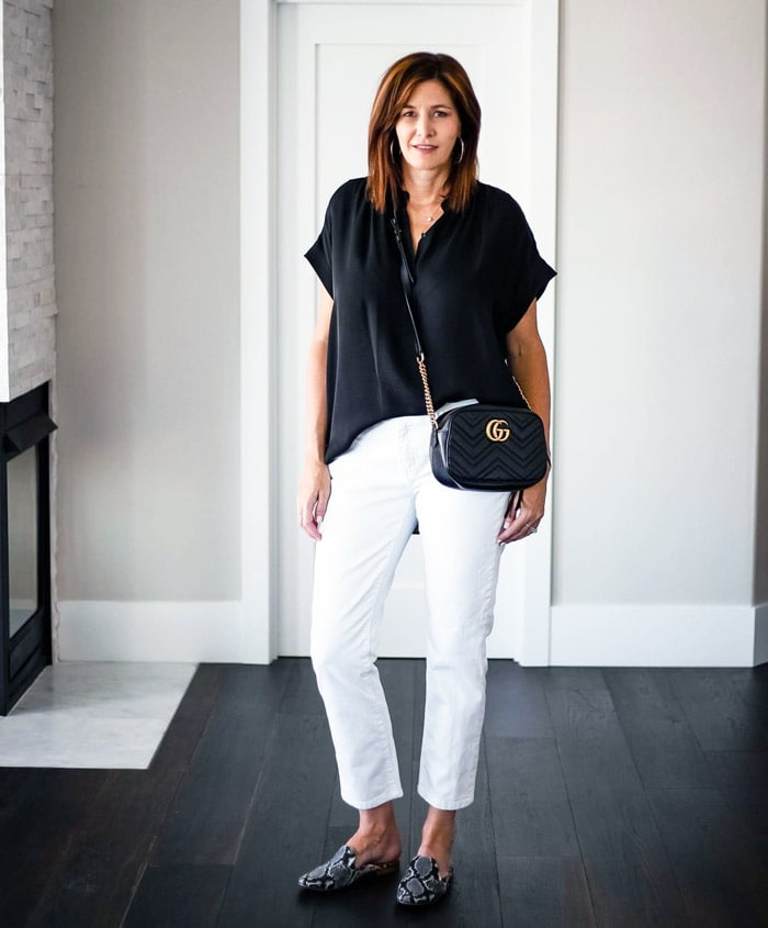 monochrome works well if you have a minimal style personality | 40plusstyle.com