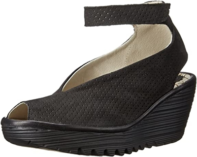 best women's sandals - Fly London 'Yala' perforated wedge sandal   40plusstyle.com