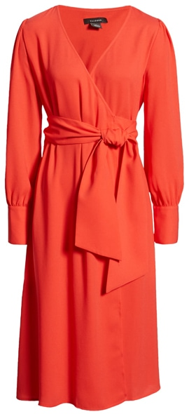 how to dress when you are short - Halogen wrap dress | 40plusstyle.com