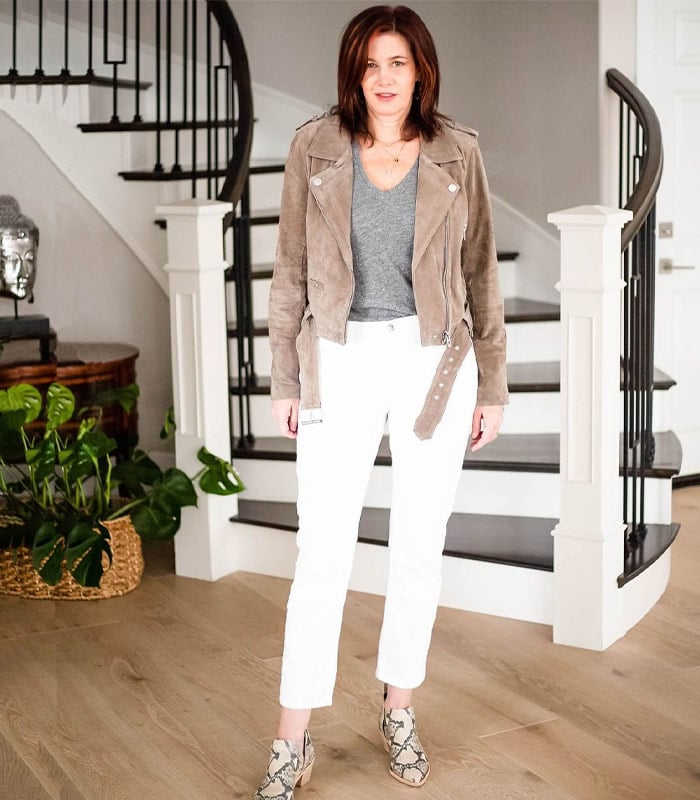 How to wear white pants: Inspiration and ideas | 40plusstyle.com