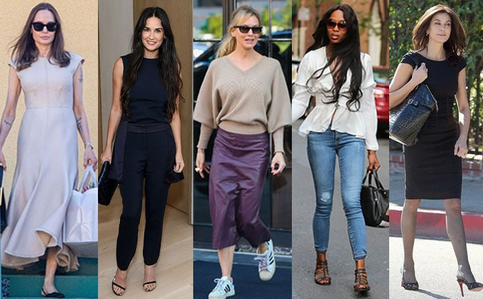 Celebrities with inverted triangle body shapes   40plusstyle.com
