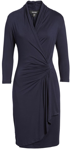 Karen Kane faux wrap dress  40plusstyle.com