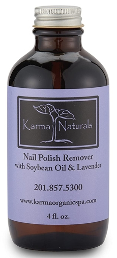 Karma Organic Beauty Natural Soybean Lavender Nail Polish Remover | 40plusstyle.com