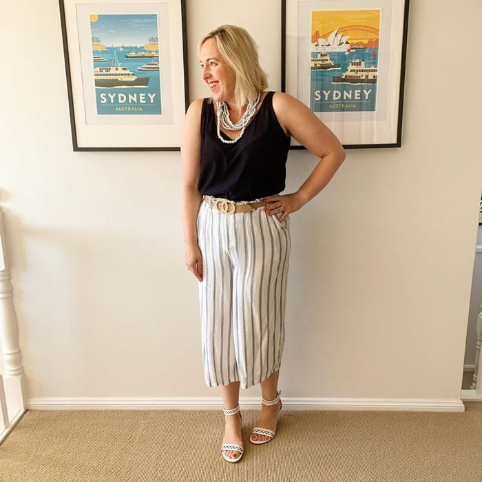 vertical stripes are flattering when you are short or petite | 40plusstyle.com