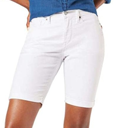 Signature by Levi Strauss & Co. Gold Label mid-rise bermuda shorts   40plusstyle.com