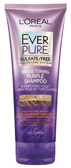 L'Oréal Paris Hair Care EverPure Sulfate Free Brass Toning Shampoo | 40plusstyle.com