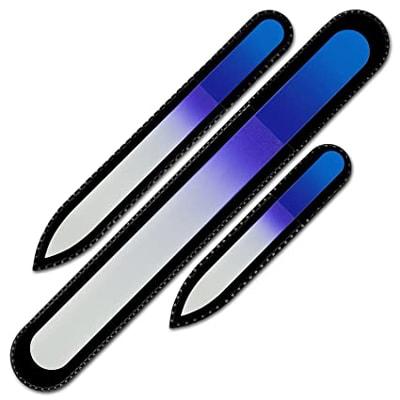 Mont Bleu Premium Set of 3 Crystal Nail Files | 40plusstyle.com