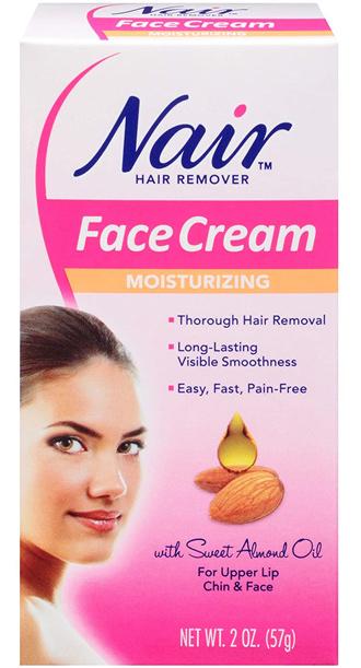 Nair Hair Remover Moisturizing Face Cream | 40plusstyle.com
