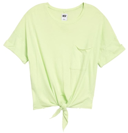 NSF Clothing front tie t-shirt | 40plusstyle.com