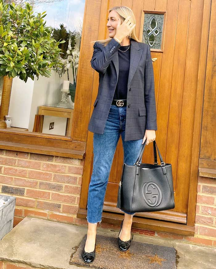wearing a blazer with jeans for a classic look | 40plusstyle.com