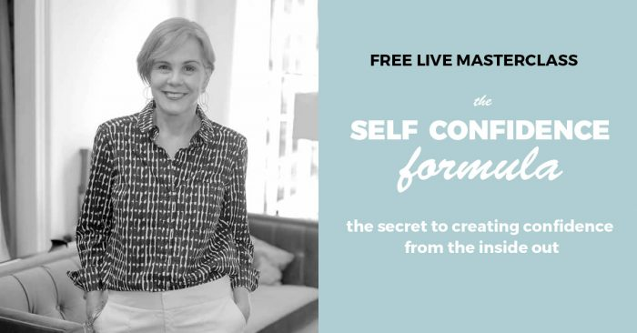 FREE masterclass: learn the Self Confidence Formula and cultivate true self confidence