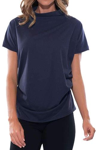 Stella Carakasi draped knit top | 40plusstyle.com