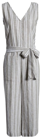 beachlunchlounge tie waist jumpsuit | 40plusstyle.com