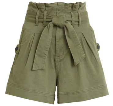 STS Blue high waist paperbag shorts | 40plusstyle.com